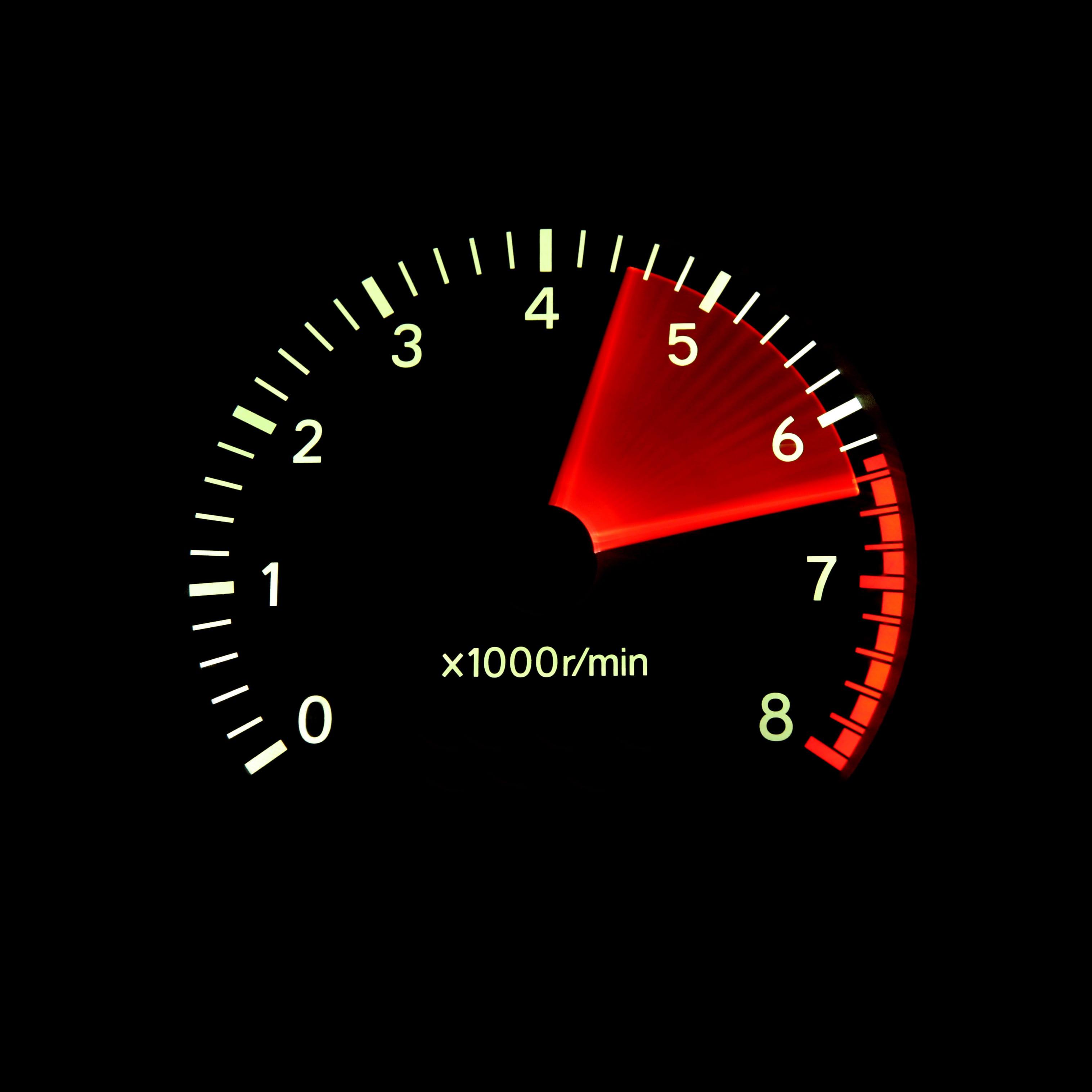 US Dealer Red Zone Speedometer