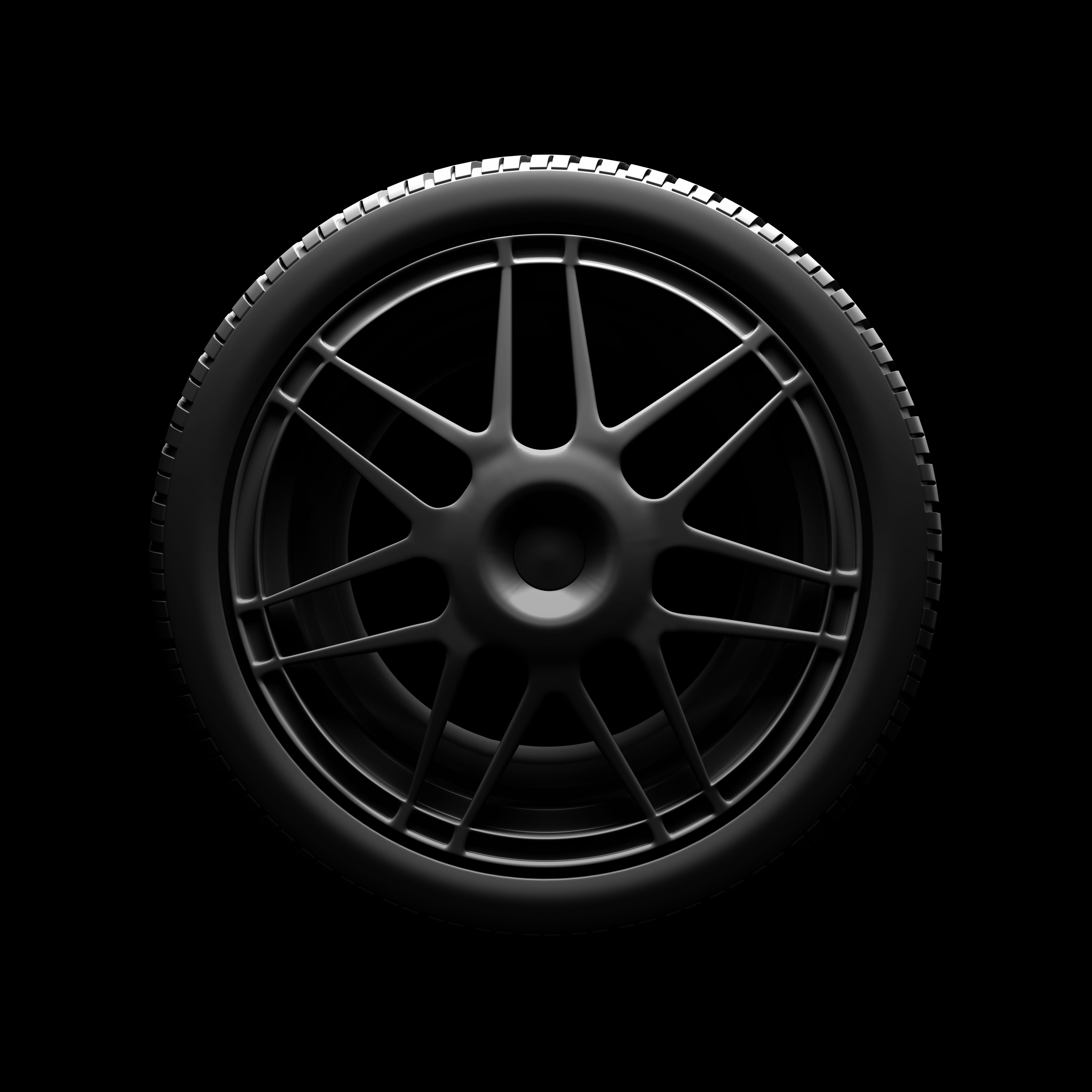 us dealer isolated car tire